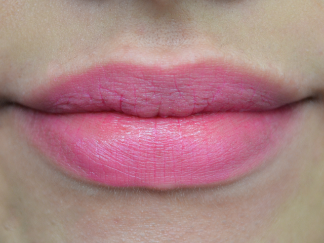 bare lips after four swatches