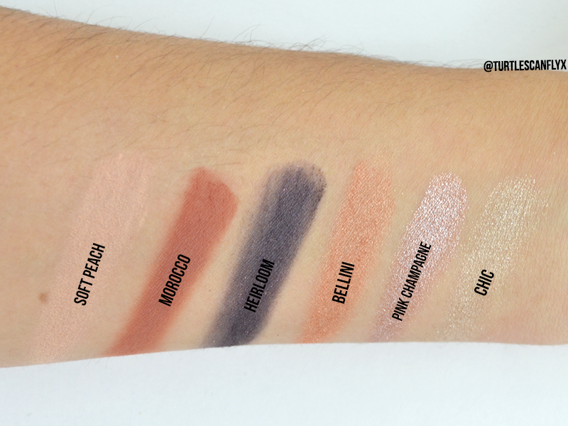 Top row swatched.