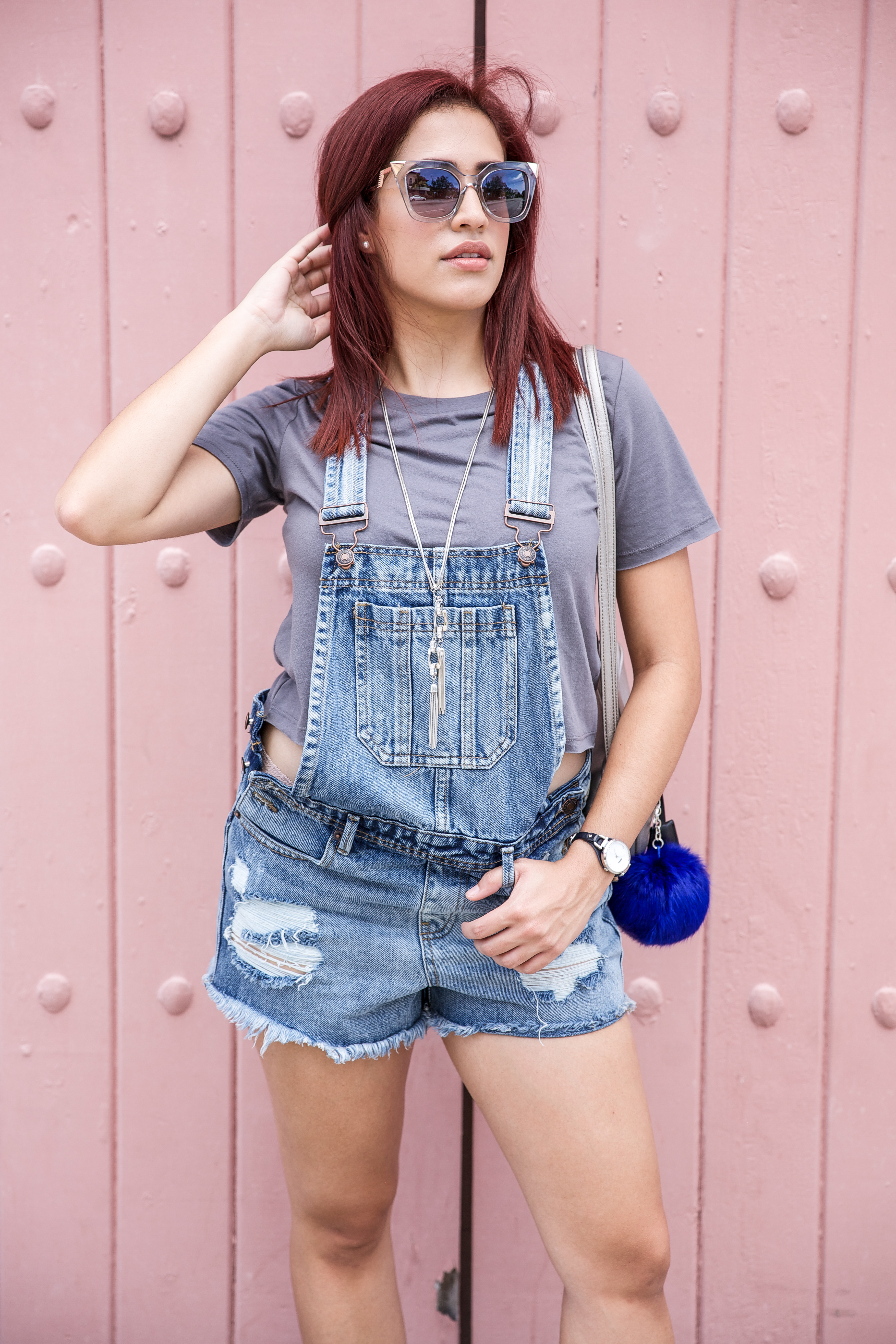 Crop Top Denim Overalls